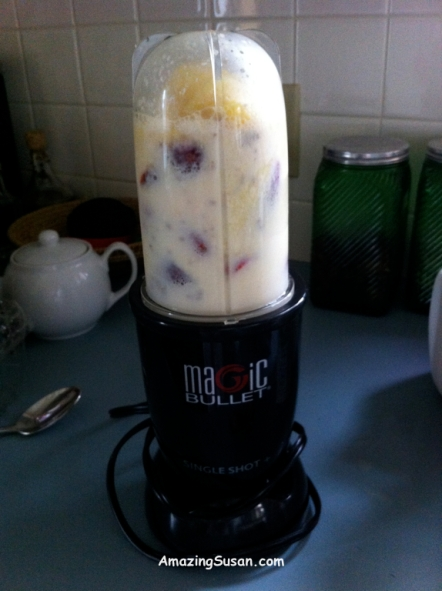 Just about to blend....and....yummy smoothie!!!