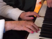 Mom piano hands